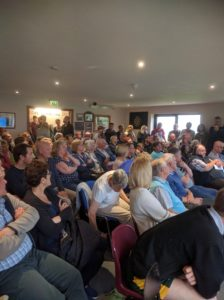 hade edge Village meeting 14 June 2016 overflowing